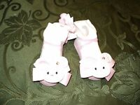 Mud Pie Baby Girl Easter Socks- Ruffles & Rabbits Pink Bunny Socks (0-12m)