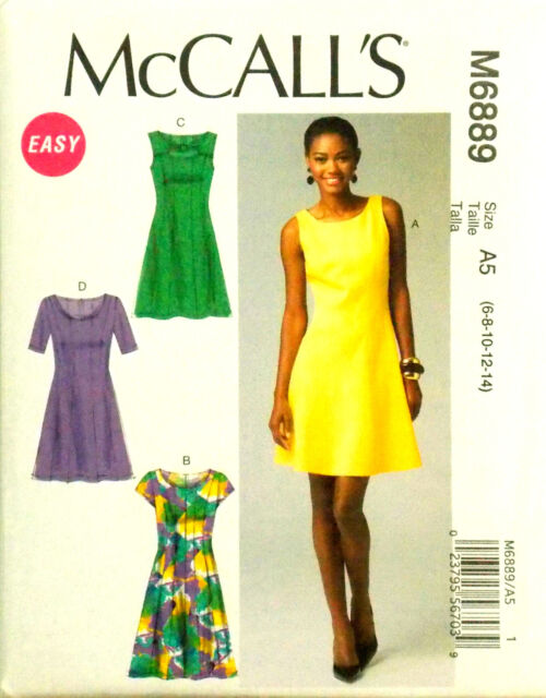 Sew Make Mccalls M6889 Sewing Pattern Womens Fitted Knit Mini