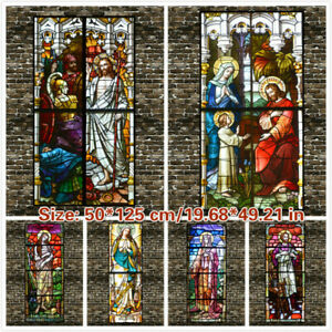 DIY Self-adhesive Stained Glass Stickers European Chapel ...