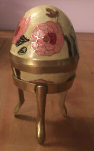 Vintage-Brass-And-Enamel-Egg-On-A-Tripod-Brass-Stand