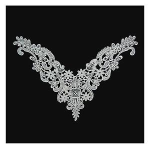 Unotrim 10 x 8 inches White Venice Embroidery Bodice Motif Applique by Piece
