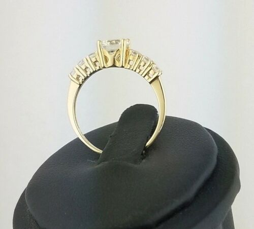 14k Solid Yellow Gold Solitaire 1.5 CT Round Diamond Engagement Wedding Ring