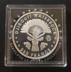 RWANDA IMPALA 2014 1 oz Silver Coin African Wildlife Fabulous 15 F15 PRIVY MARK