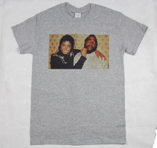 Michael Jackson /& Mr T Grey T-Shirt Size S-3XL Supreme Vintage Retro Thriller