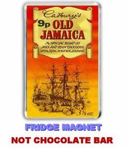 Details About Jumbo Fridge Magnet Of A Retro Cadburys Old Jamaica Chocolate Bar Wrapper