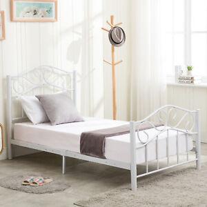 Image Is Loading Twin Size Metal Bed Frame Steel Heavy Duty