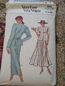 Vogue-Very-Easy-9031-sz-8-10-12-1987-dress-pattern-uncut-complete