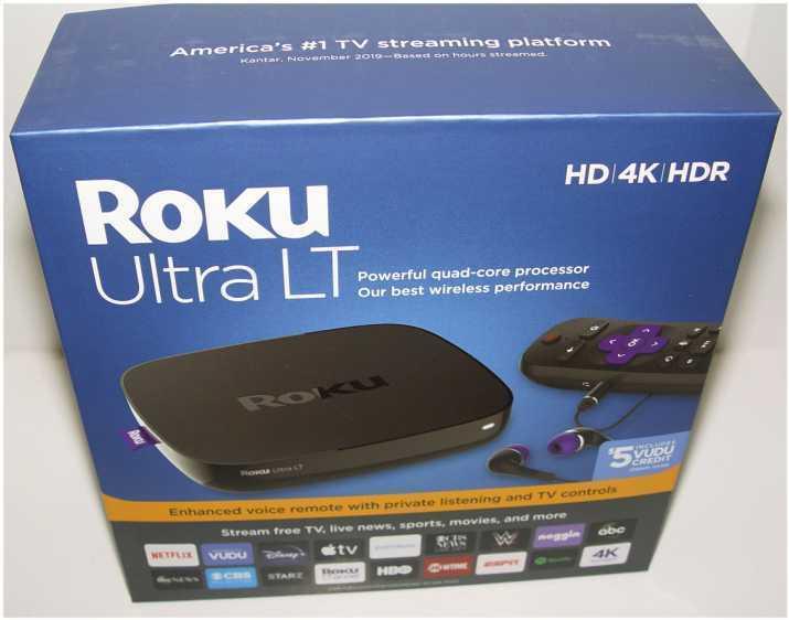 New Roku 4662RW Ultra LT Streaming Media Player w Voice Remote 4662rw media new player remote roku streaming ultra voice