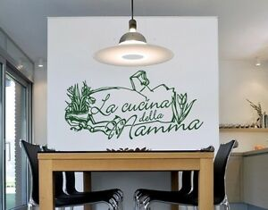 Cucina Della Mamma - highest quality wall decal sticker | eBay