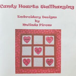 Sew-Precious-Digitized-Machine-Embroidery-CD-Candy-Hearts-Wall-Hanging-Quilt