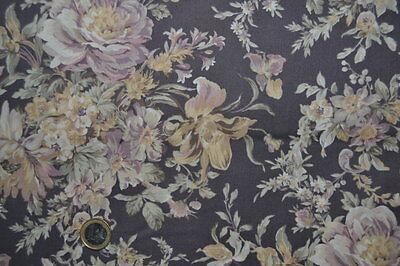 Coupon de Tissu Patchwork Quilt Gate bouquets sur fond biscuit  45x55cm