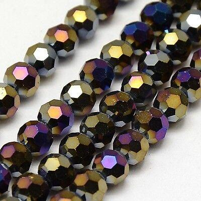 Tschechische Kristall Perlen 6x8mm Jet Schwarz Schmuckherstellung BEST X132
