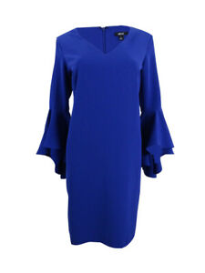 MSK-Women-039-s-Bell-Sleeve-Dress