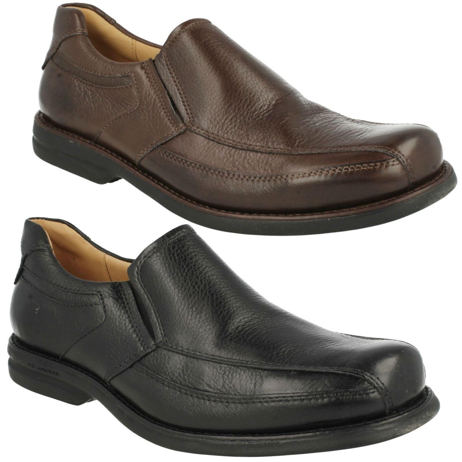 URUPA Herren ANATOMIC & CO URUPA  LEATHER BLACK BROWN SLIP ON COMFORT SMART LOAFERS Schuhe a90fcf