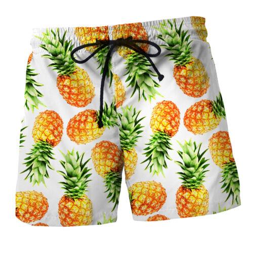 Herren Badehose Hawaii Party Sommer Freizeit Short Schnell Trockend