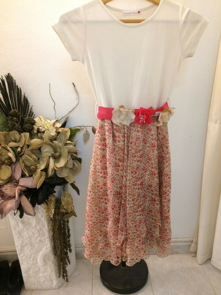 Girl Shop * Sommer Blumen Kleid * VESTIDO dress * Gr 152/12...