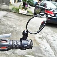 Cycling Bike Bicycle Rear View Mirror Reflective Safety Flat Mirror Accessory