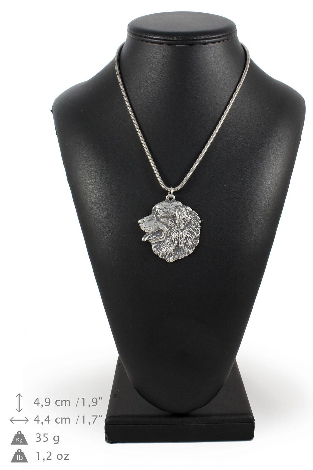 Bouvier bernois - silver plaqué collier sur une cordon en silver Art Dog FR