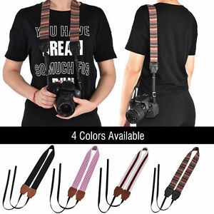 Universal-Vintage-Camera-Shoulder-Neck-Belt-Strap-For-Canon-Nikon-Sony-SLR-DSLR