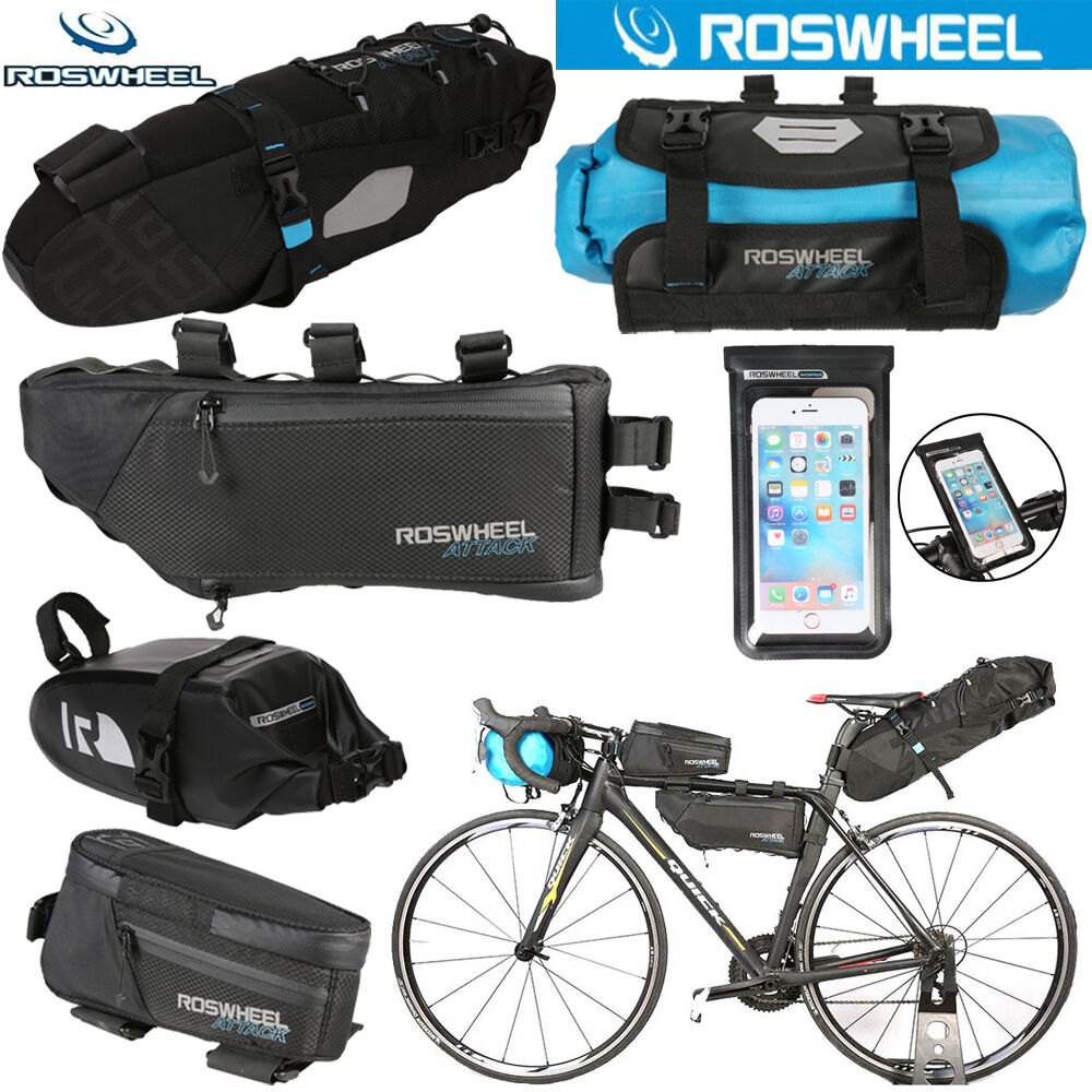 ROSWHEEL  Waterproof Cycling Phone Frame Bag Bicycle Rear Pannier Seat Saddle Bag  on sale 70% off