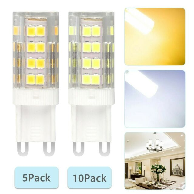 6pcs G9 LED Light Bulb 7W Dimmable 80-5730 SMD 110V Silicone Lamp White//Warm H
