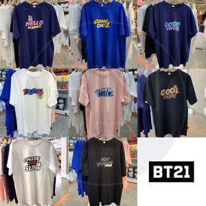 BTS-BT21-Official-Authentic-Goods-Lettering-Short-Sleeve-T-Shirt-by-Line-Friends