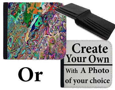 Astratto Psichedelico, Colorato Design Raver Wallet Pattern Borsa Bag Art C746-mostra Il Titolo Originale