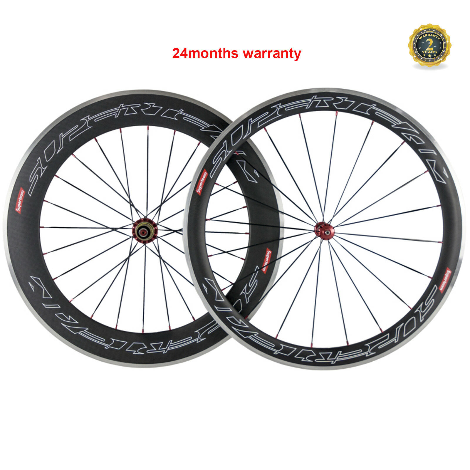 SUPERTEAM Carbon Wheels Biycle Front 50 Rear 80mm Clincher Wheelset  Alloy Brake  be in great demand