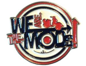 We-Are-The-Mods-REDONDA-DIANA-METAL-Scooter-Moto-Rider-Metal-Chapa-de-Esmalte
