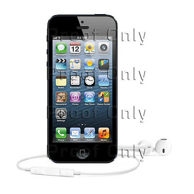 Apple iPhone 5 Black Fabric Poster Banner Prints for Windows or Wall 3ft x 3ft