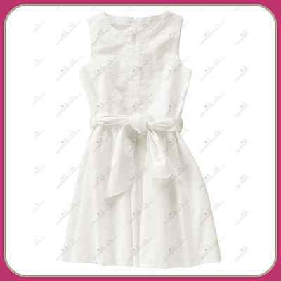 NWT Crazy 8 By Gymboree Size  10 Dress Circle Dots Girls Bow Cotton White