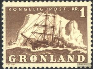 Daenemark-Groenland-35-postfrisch-1950-Arktisschiff