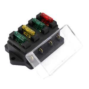 image is loading 4-way-blade-fuse-box-holder-12v-24v-