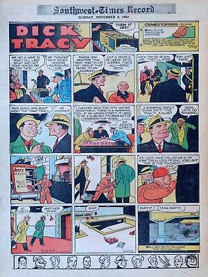 Dick Tracy by Chester Gould - full tab color Sunday comic page - Nov  9,  1952 | eBay