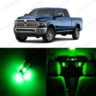10 x Ultra Green LED Interior Light Package For Dodge Ram 1500 2500 2002 - 2011