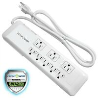 Fospower [s8tcj2k] Power Strip Surge Protector 8 Outlet Swivel & Safety Covers