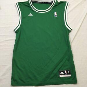 timeless design 62cb3 8cedc Details about M56 New NWT ADIDAS Boston Celtics Rajon Rondo Green Blank  Jersey MEN'S Small S