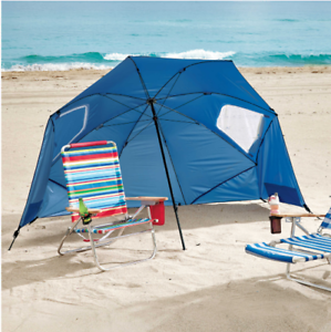 Outdoor Beach Umbrella Canopy, Portable Picnic Shelter, Sun Shade Rain Tent