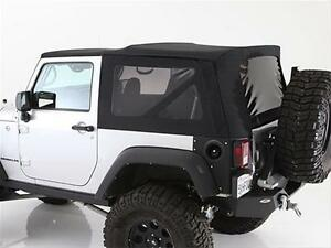 2010 2017 Jeep Wrangler 2 Door Replacement Soft Top With Tinted