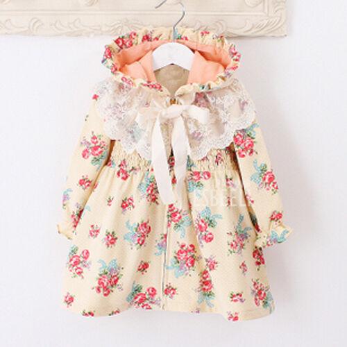 new Girls Kids Toddler windbreaker Butterfly clothing Dress Outerwear Age1-7Y