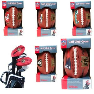 NFL-Team-Football-Driver-Golf-Club-Headcover-Assorted-Teams