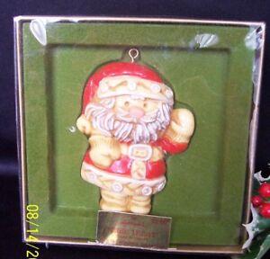 Vintage Hallmark 1976 Tree Treat Santa and Shepherd Ornaments Seasons Greetings