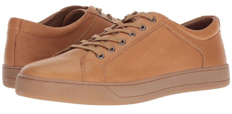 New JOHNSTON & MURPHY Allister Mens Natural Tan Leather Fashion Sneaker 9 D US