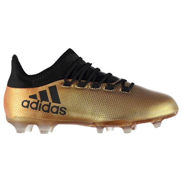 Adidas 17.2 FG botas de fútbol de tierra firme para hombre de oro negro Talla 11 Reino Unido