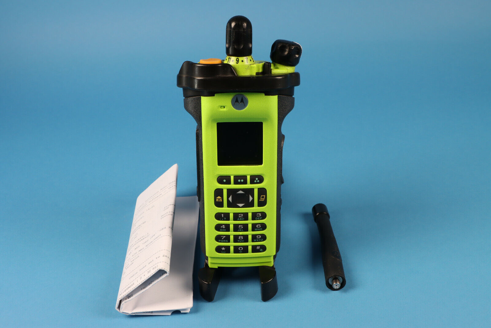 Motorola APX6000XE UHF R2 FPP w/ antenna Green/Black Housing with Tags. Available Now for 2200.00