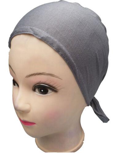 Under Scarf Bonnet Bone Tie Back Chemo Cap Hijab Head Hair loss Hat