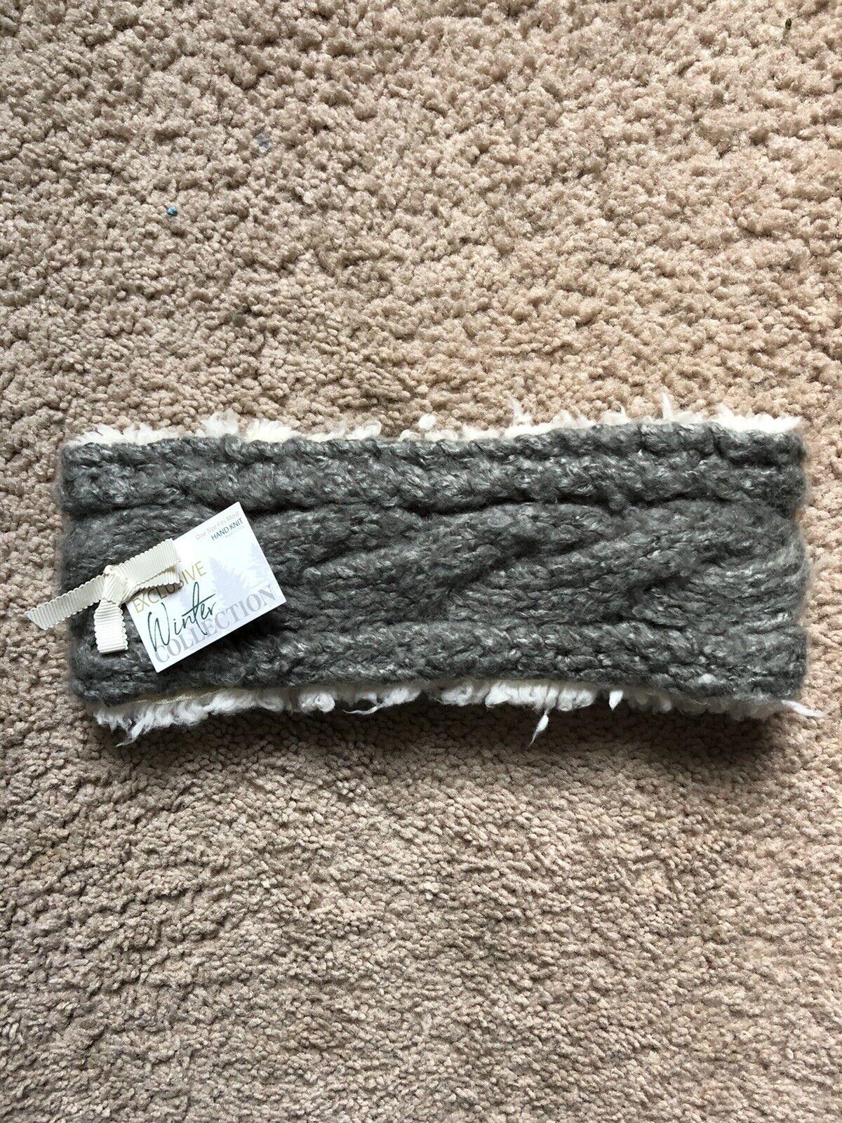 Headband Ear and Head Warmer-Hand Knit color-nickel