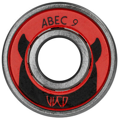 8x Wicked WCD ABEC 9 Kugellager Bearings 608 made by Powerslide NEU