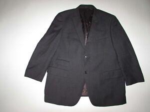 Pronto-Uomo-Men-039-s-Blazer-Size-46-Regular-Dark-Gray-100-Wool-Suit-Coat-Jacket-R