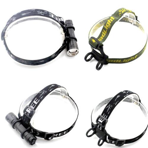 Headband Head Belt Head Strap Mount Holder For Headlight Flashlight Lamp ToWRDR